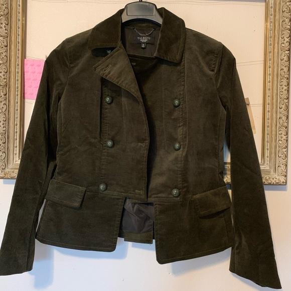 Talbots Jackets & Blazers - Talbots Dark Green Velvet Blazer